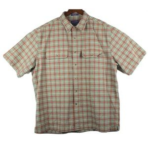 Pendleton Hikers Shirt Mens XL Plaid Short Sleeve